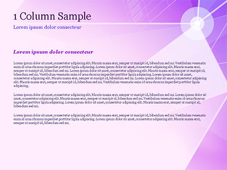 Abstract Purple Triangles PowerPoint Template, Slide 4, 14999, Abstract/Textures — PoweredTemplate.com