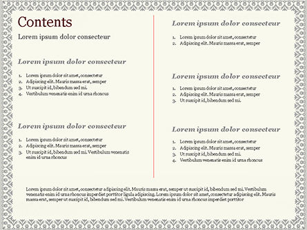 Vintage Certificate PowerPoint Template, Slide 2, 15002, Abstract/Textures — PoweredTemplate.com