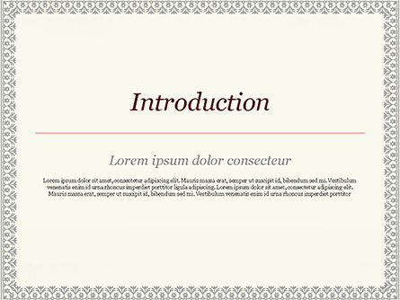 Vintage Certificate PowerPoint Template, Slide 3, 15002, Abstract/Textures — PoweredTemplate.com