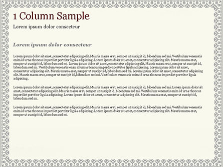 Vintage Certificate PowerPoint Template, Slide 4, 15002, Abstract/Textures — PoweredTemplate.com