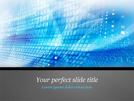 Abstract/Textures: Cyber Background PowerPoint Template #15003