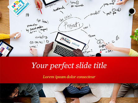Business Team at Project Planning PowerPoint Template, 15005, Business Concepts — PoweredTemplate.com