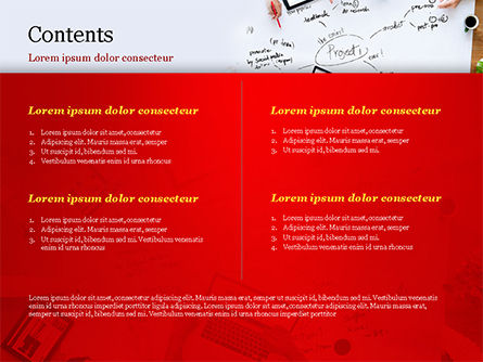 Business Team at Project Planning PowerPoint Template, Slide 2, 15005, Business Concepts — PoweredTemplate.com