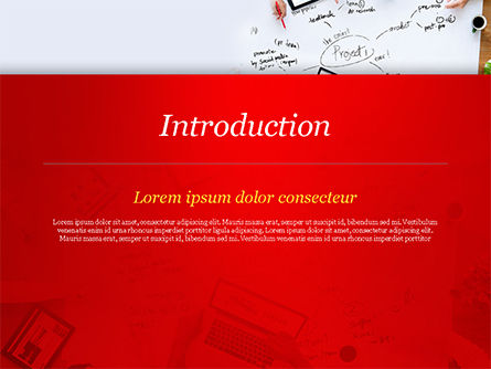 Business Team at Project Planning PowerPoint Template, Slide 3, 15005, Business Concepts — PoweredTemplate.com