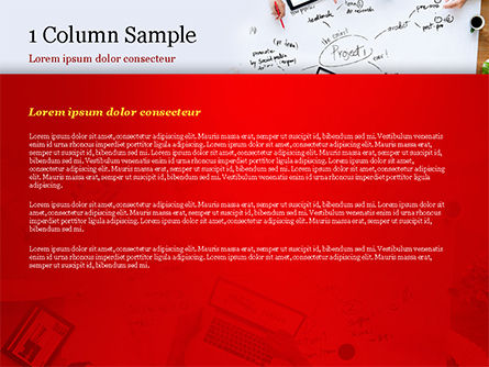 Business Team at Project Planning PowerPoint Template, Slide 4, 15005, Business Concepts — PoweredTemplate.com