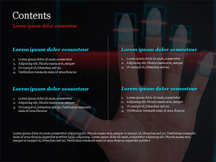 Fingerprint Scanning PowerPoint Template, Slide 2, 15008, Technology and Science — PoweredTemplate.com
