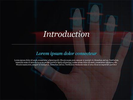Fingerprint Scanning PowerPoint Template, Slide 3, 15008, Technology and Science — PoweredTemplate.com