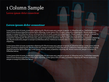 Fingerprint Scanning PowerPoint Template, Slide 4, 15008, Technology and Science — PoweredTemplate.com