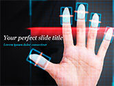 Technology and Science: Fingerprint Scanning PowerPoint Template #15008