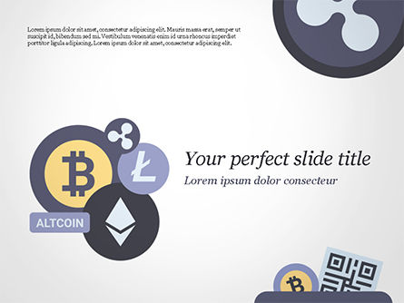 Cryptocurrency Coins PowerPoint Template, 15009, Technology and Science — PoweredTemplate.com
