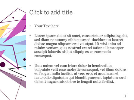 Pastel Colorful Triangles PowerPoint Template, Slide 3, 15011, Abstract/Textures — PoweredTemplate.com