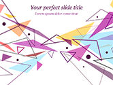 Abstract/Textures: Pastel Colorful Triangles PowerPoint Template #15011