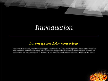 Man with Fire Gears PowerPoint Template, Slide 3, 15014, Business Concepts — PoweredTemplate.com