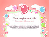 Holiday/Special Occasion: Cute Girl Birthday Background PowerPoint Template #15016