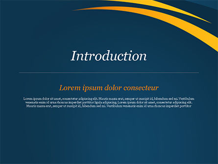 Orange Curves on Blue Background PowerPoint Template, Slide 3, 15017, Abstract/Textures — PoweredTemplate.com
