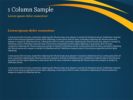 Orange Curves on Blue Background PowerPoint Template, Slide 4, 15017, Abstract/Textures — PoweredTemplate.com