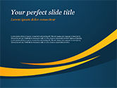 Abstract/Textures: Orange Curves on Blue Background PowerPoint Template #15017