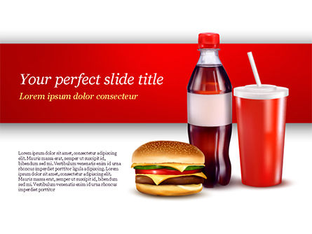 Food & Beverage: Fast Food Menu PowerPoint Template #15018