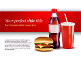 Food & Beverage: Modello PowerPoint - Menu fast food #15018