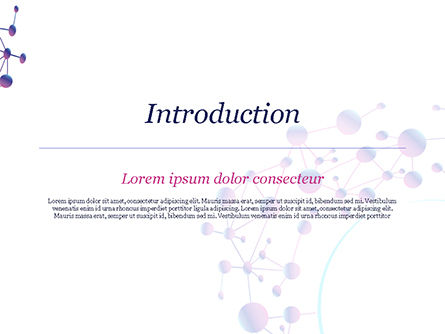 Abstract Purple Molecular Structure PowerPoint Template, Slide 3, 15020, Abstract/Textures — PoweredTemplate.com