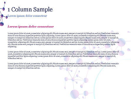Abstract Purple Molecular Structure PowerPoint Template, Slide 4, 15020, Abstract/Textures — PoweredTemplate.com