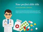 Medical: Plantilla de PowerPoint - doctor con medicinas #15021