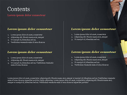 Businessman Holding Chart Graph PowerPoint Template, Slide 2, 15022, Business Concepts — PoweredTemplate.com