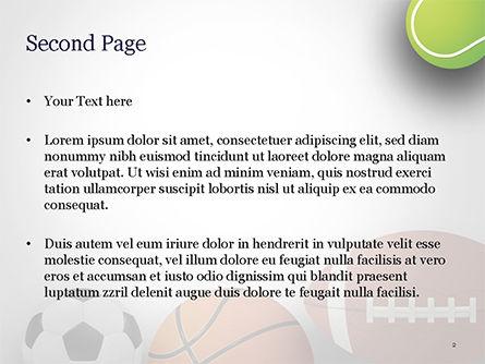Different Sport Balls PowerPoint Template, Slide 2, 15023, Sports — PoweredTemplate.com