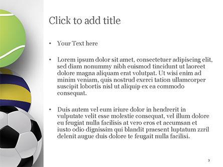 Different Sport Balls PowerPoint Template, Slide 3, 15023, Sports — PoweredTemplate.com