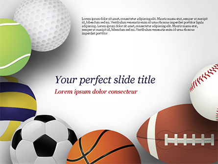 Sports: Different Sport Balls PowerPoint Template #15023