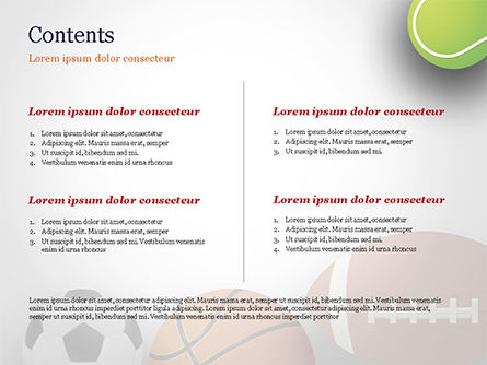 Different Sport Balls PowerPoint Template, Slide 2, 15023, Sports — PoweredTemplate.com