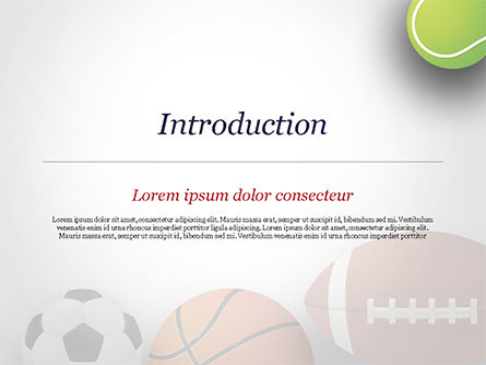 Different Sport Balls PowerPoint Template, Slide 3, 15023, Sports — PoweredTemplate.com