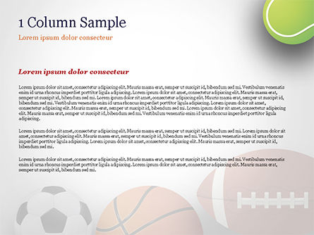 Different Sport Balls PowerPoint Template, Slide 4, 15023, Sports — PoweredTemplate.com