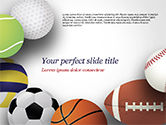Sports: Modelo do PowerPoint - bolas de esporte diferentes #15023