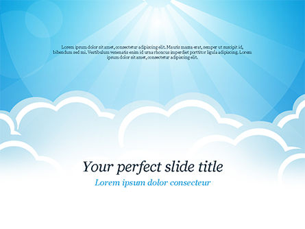 Over the Clouds PowerPoint Template, 15024, Nature & Environment — PoweredTemplate.com