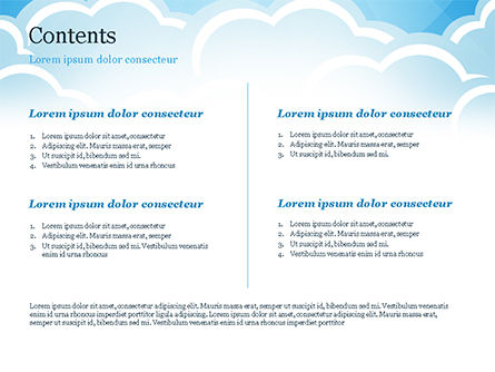 Over the Clouds PowerPoint Template, Slide 2, 15024, Nature & Environment — PoweredTemplate.com