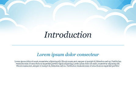 Over the Clouds PowerPoint Template, Slide 3, 15024, Nature & Environment — PoweredTemplate.com