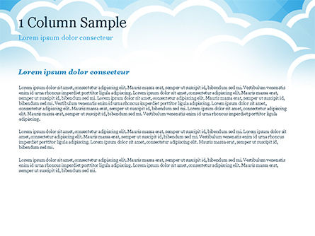 Over the Clouds PowerPoint Template, Slide 4, 15024, Nature & Environment — PoweredTemplate.com