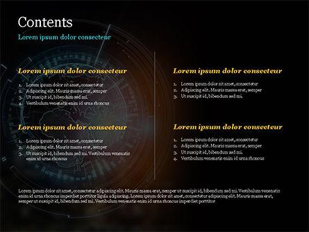 Luminous Digital Globe PowerPoint Template, Slide 2, 15026, Technology and Science — PoweredTemplate.com