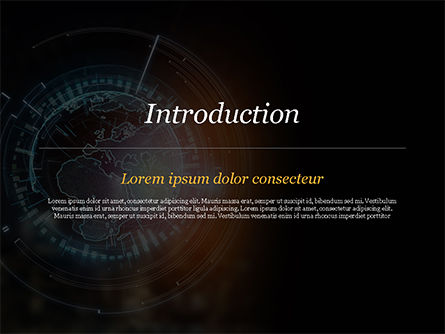 Luminous Digital Globe PowerPoint Template, Slide 3, 15026, Technology and Science — PoweredTemplate.com