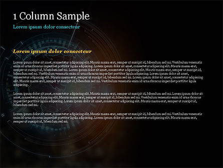 Luminous Digital Globe PowerPoint Template, Slide 4, 15026, Technology and Science — PoweredTemplate.com