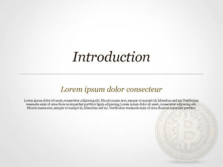 Gold Coin with Bitcoin Sign PowerPoint Template, Slide 3, 15029, Technology and Science — PoweredTemplate.com