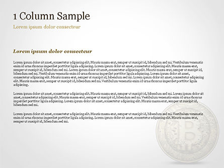 Gold Coin with Bitcoin Sign PowerPoint Template, Slide 4, 15029, Technology and Science — PoweredTemplate.com