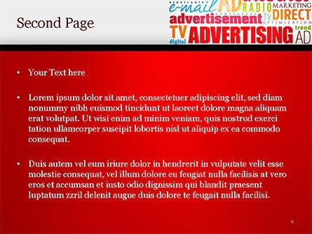 Advertising Word Cloud Collage PowerPoint Template, Slide 2, 15030, Careers/Industry — PoweredTemplate.com