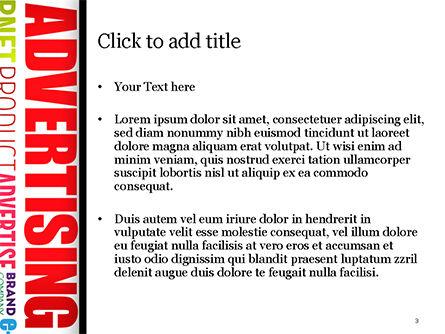 Advertising Word Cloud Collage PowerPoint Template, Slide 3, 15030, Careers/Industry — PoweredTemplate.com