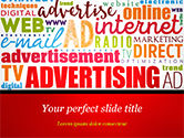 Careers/Industry: Advertising Word Cloud Collage PowerPoint Template #15030