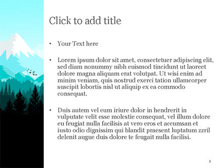 Mountain Forest PowerPoint Template, Slide 3, 15031, Nature & Environment — PoweredTemplate.com