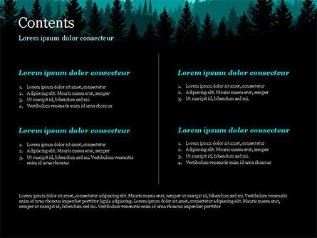 Mountain Forest PowerPoint Template, Slide 2, 15031, Nature & Environment — PoweredTemplate.com