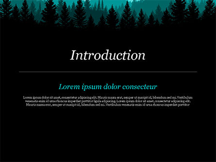 Mountain Forest PowerPoint Template, Slide 3, 15031, Nature & Environment — PoweredTemplate.com