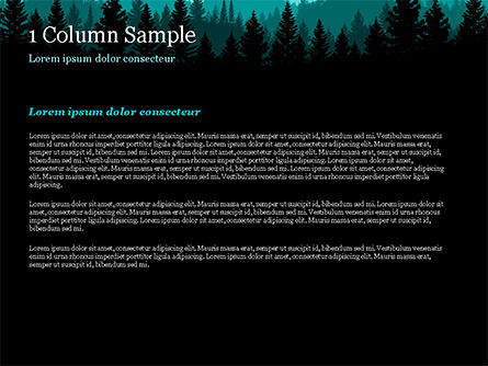 Mountain Forest PowerPoint Template, Slide 4, 15031, Nature & Environment — PoweredTemplate.com